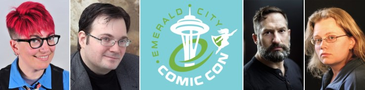 Tor Books Tor.com Publishing authors Emerald City Comic Con 2018 ECCC author events schedule panels signings
