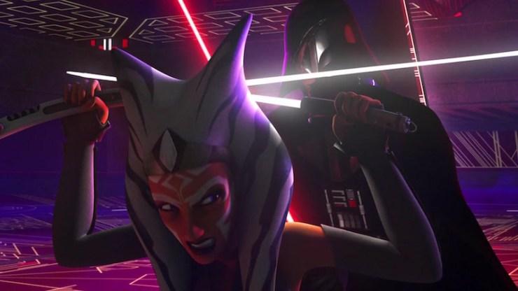 Ahsoka Tano, Star Wars: Rebels, Vader fight
