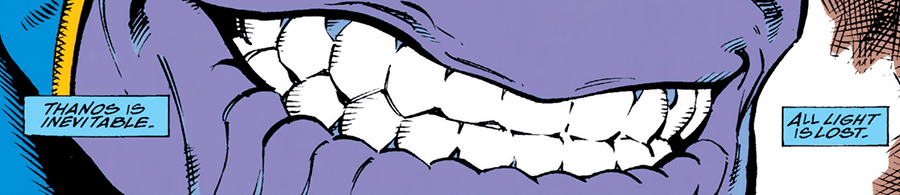 Infinity Gauntlet Thanos smile