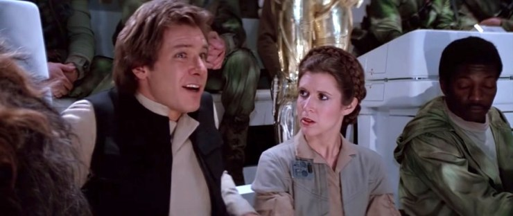 Han Solo and Princess Leia, Star Wars: Return of the Jedi