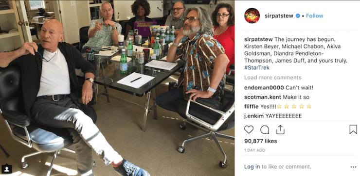 Patrick Stewart, Instagram, Picard show