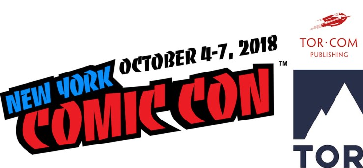 Tor Books Tor.com Publishing New York Comic-Con NYCC 2018 schedule authors panels
