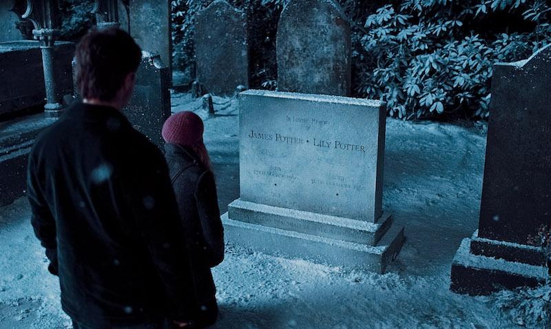 James Potter Lily Potter grave