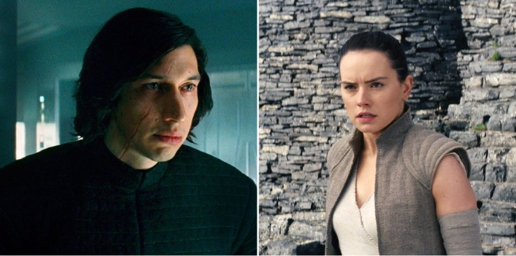 Rey Kylo Ren Force mind meld The Last Jedi