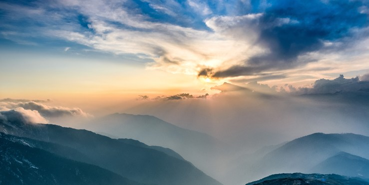 Sunset in the Himalayas photo by Sergey Pesterev