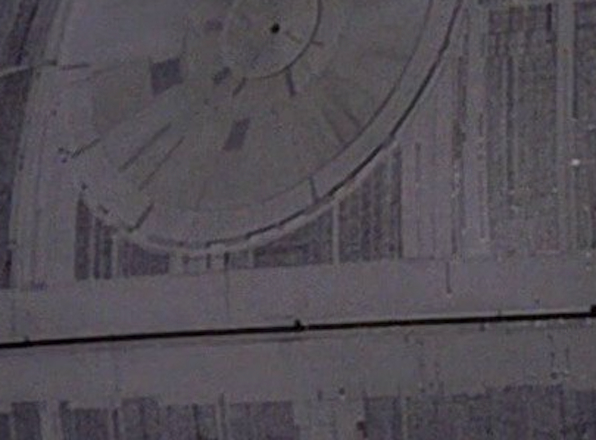 Death Star laser dish close up