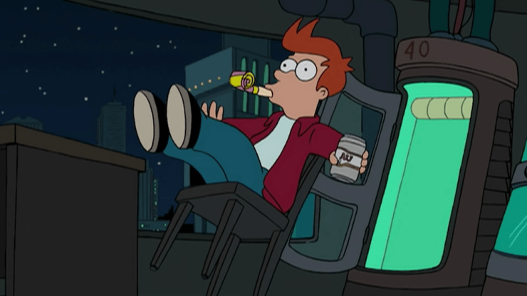 tossed into space Futurama