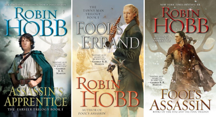 expansive SFF series 9+ books Realm of the Elderlings Robin Hobb