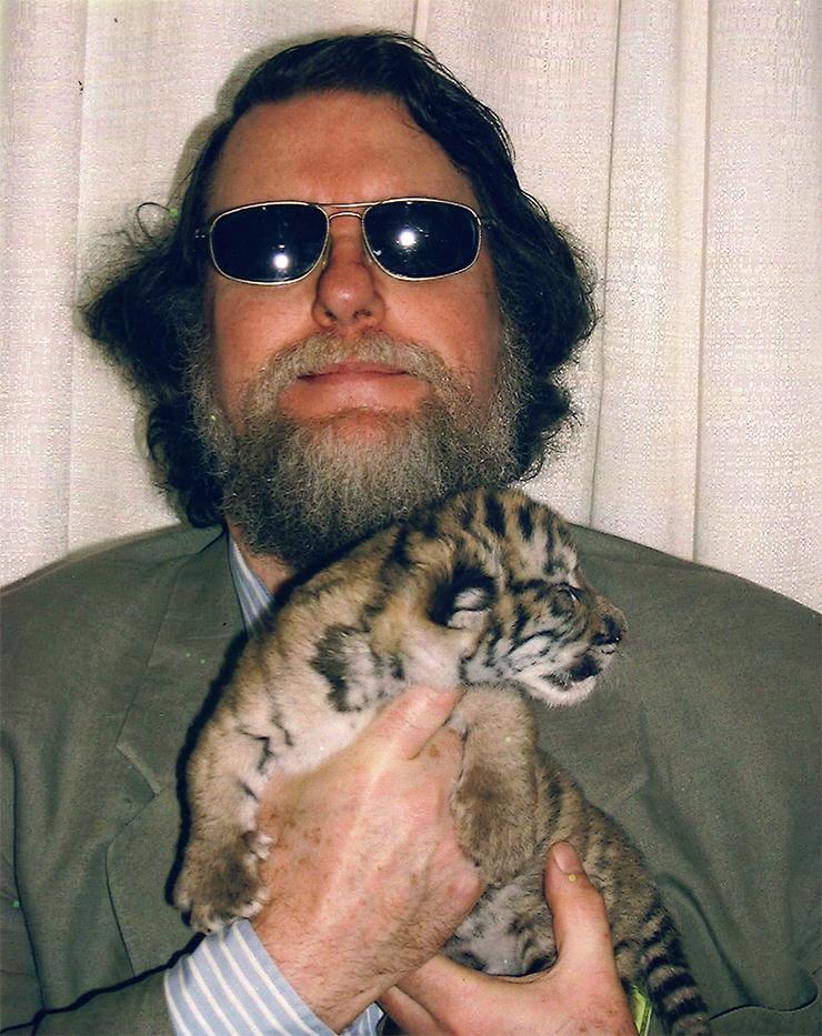 Robert Jordan with tiger cub