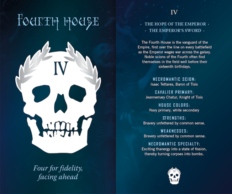 Gideon the Ninth, Fourth House postcard