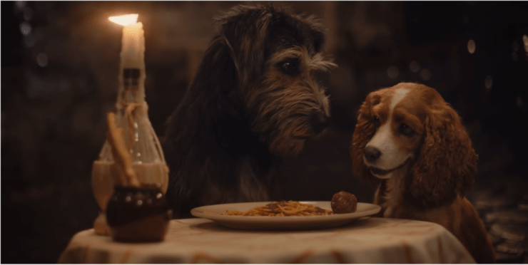 Blog Post Featured Image - Live-Action Lady and the Tramp Trailer Teases Spaghetti Scene, Gets Our Office Talking About Dogs Kissing. Again.