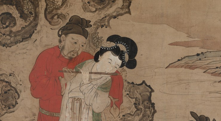 Emperor Minghuang Teaching Yang Gueifei to Play the Flute