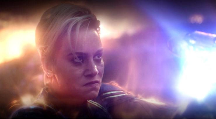 Carol Danvers Captain Marvel haircut Avengers Endgame