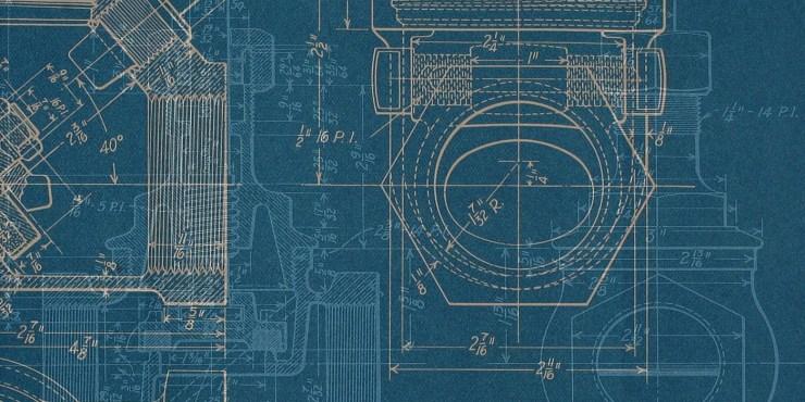 Overlay of mechanical blueprints