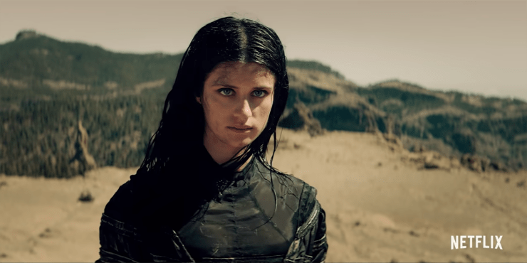 Yennefer (Anya Chalotra) in The Witcher