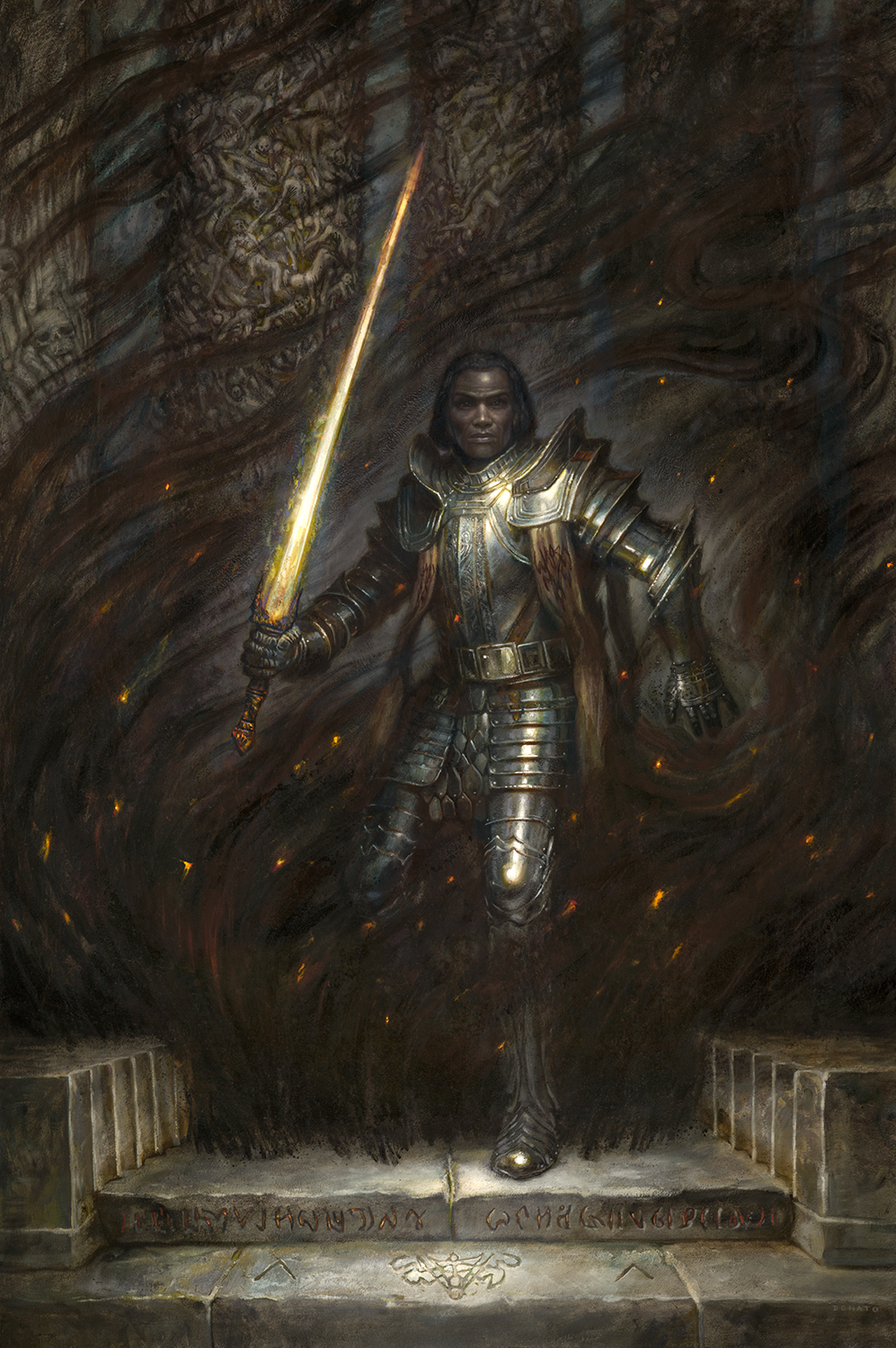 Stormlight Archive illustration of Taln by Donato Giancola