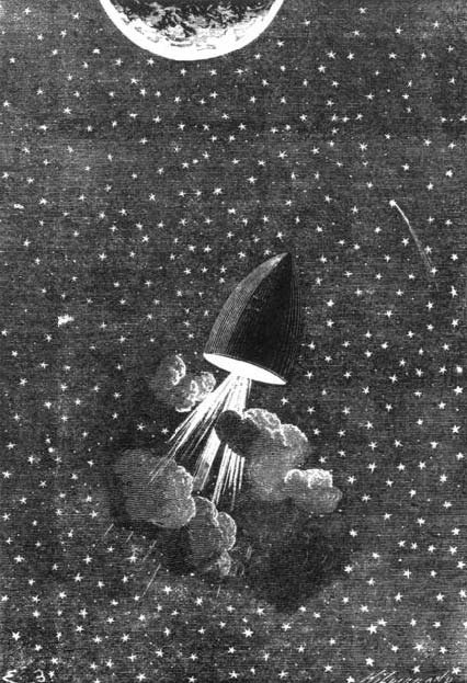 Illustration from Jules Verne's A Trip to the Moon