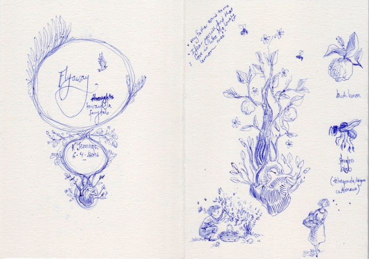 Sketches for Flyaway by Kathleen Jennings