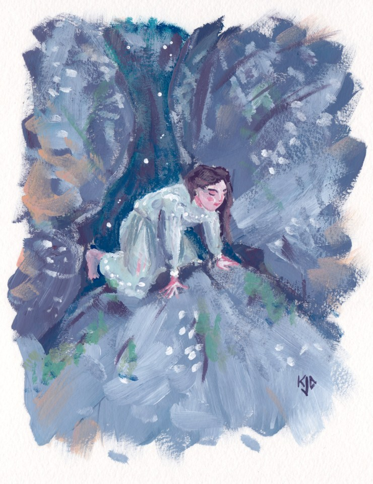Picnic at Hanging Rock painting by Kathleen Jennings