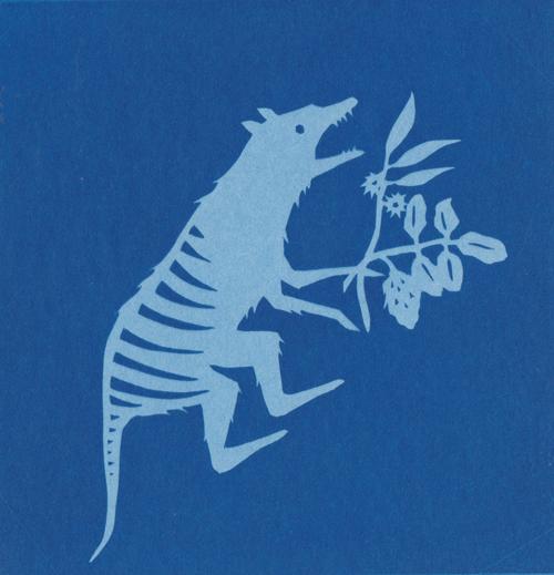 Silhouette-style animal print by Kathleen Jennings