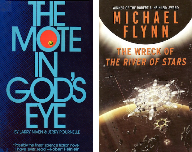 The Mote n God's Eye and The Wreck of the River of Stars book covers
