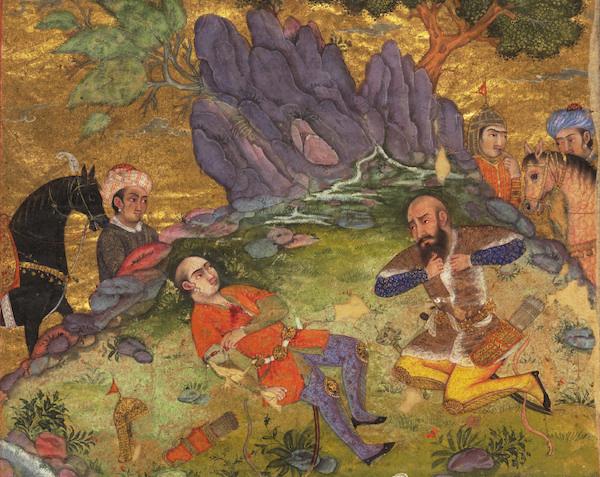 Illumination from a Shahnameh manuscript