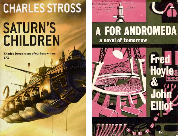 Saturn's Children and A For Andromeda book covers