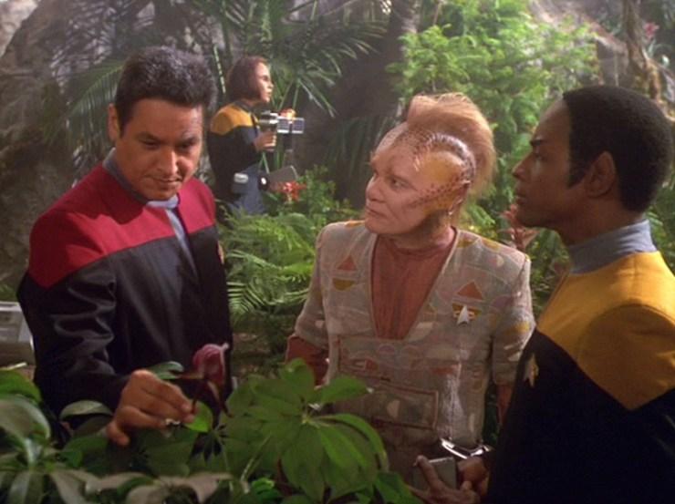 Chakotay, Neelix, and Tuvok in Star Trek: Voyager