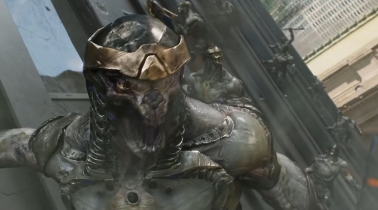 The Avengers, the Chitauri screaming
