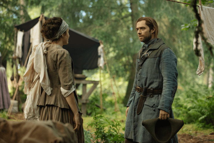 Outlander 507 The Ballad of Roger Mac midseason review Roger fate hanging