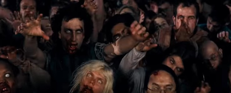 Shaun of the Dead, group of zombies