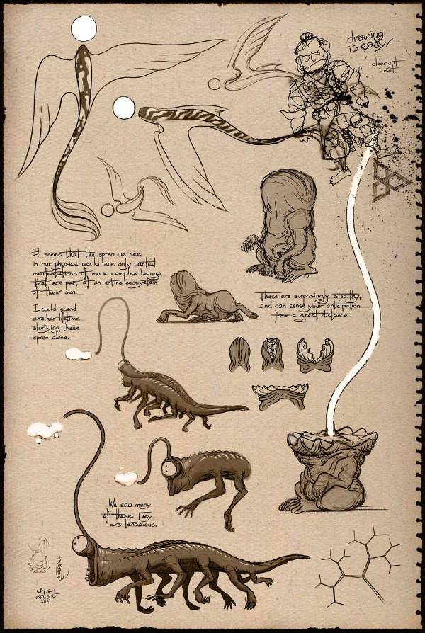 Shadesmar spren from Shallan's sketchbook by Ben McSweeney