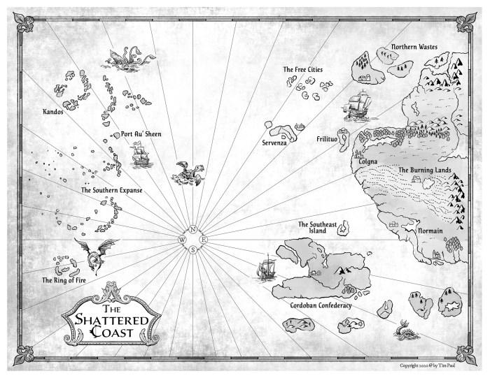 Map from Ryan Van Loan's The Sin in the Steel