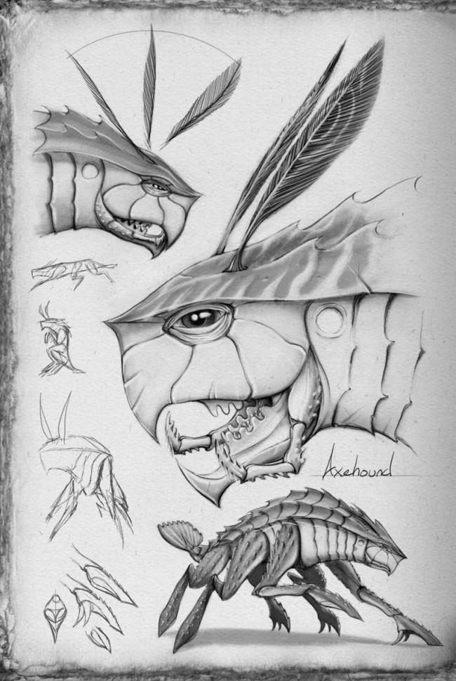 Shallan's sketches of axehounds