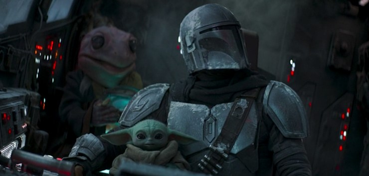 .Grogu, a fictional character in Star Wars.