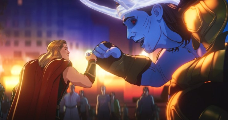 What If...? Thor only child, Thor and Frost Giant Loki secret handshake