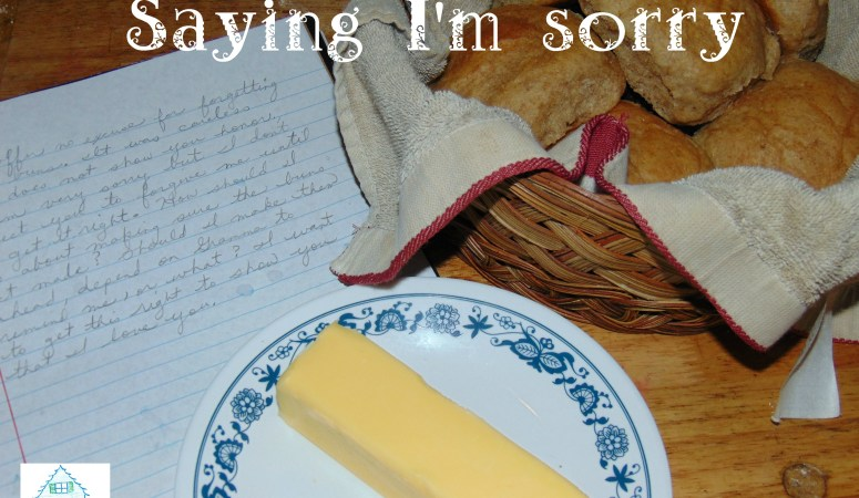 Saying I'm sorry
