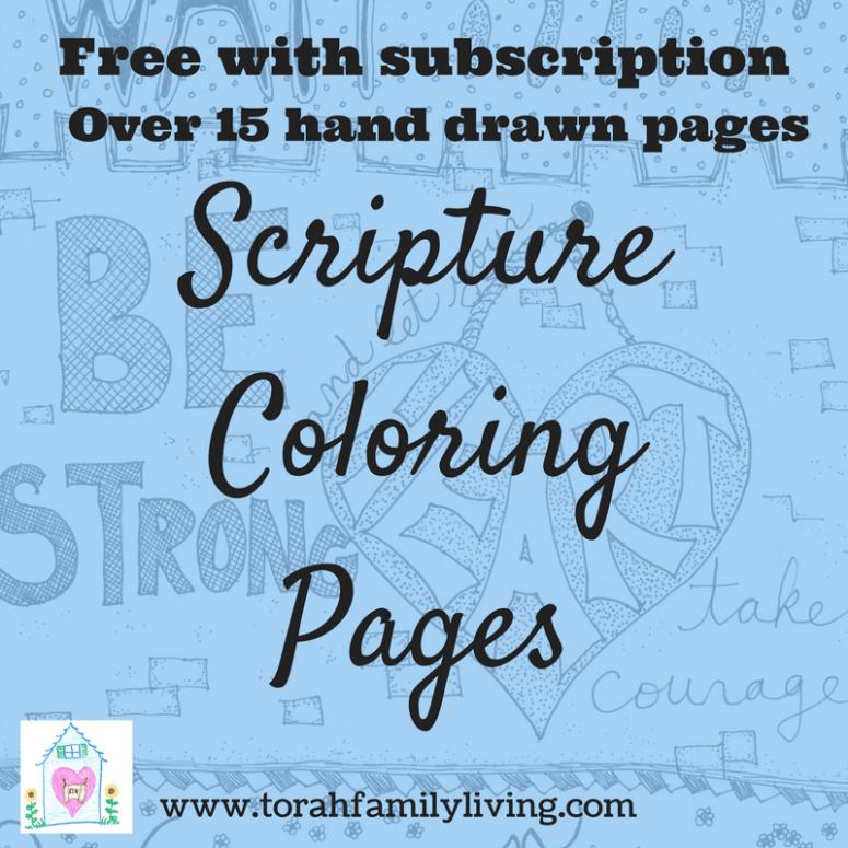 Scripture coloring