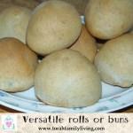 Versatile rolls or buns