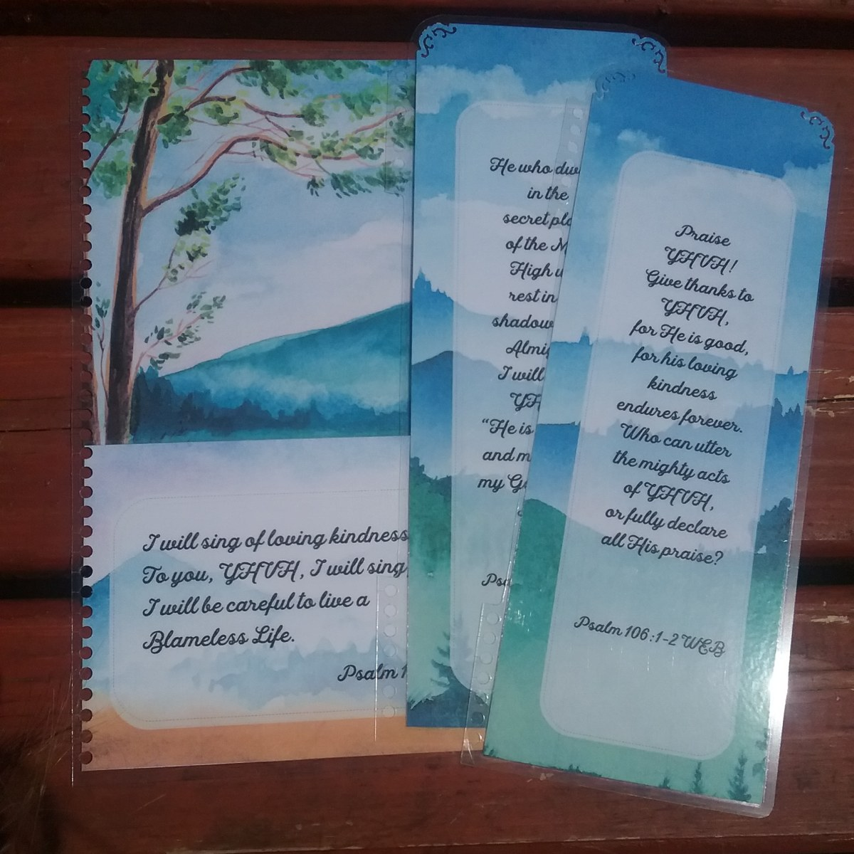 2019 style planner pocket and bookmarks set