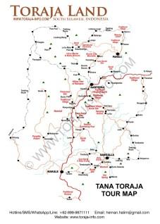 Map of Toraja
