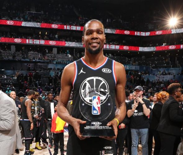 Kevin Durant Eleito O MVP Do All Star Game 2019