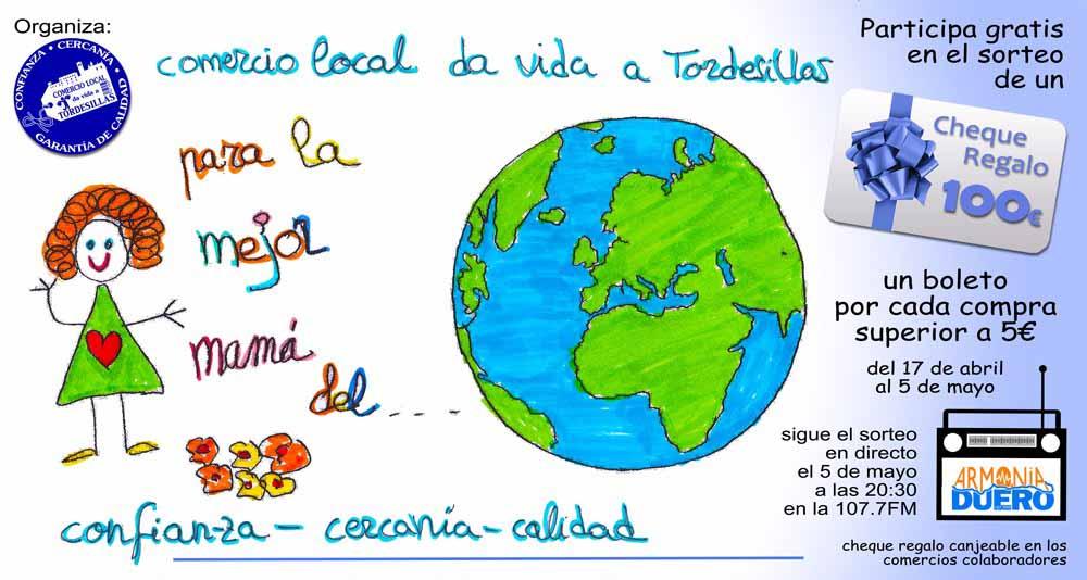 """La Asociación """"Comercio Local Tordesillas"""" regalará un cheque de 100 euros por el Día de la Madre"""