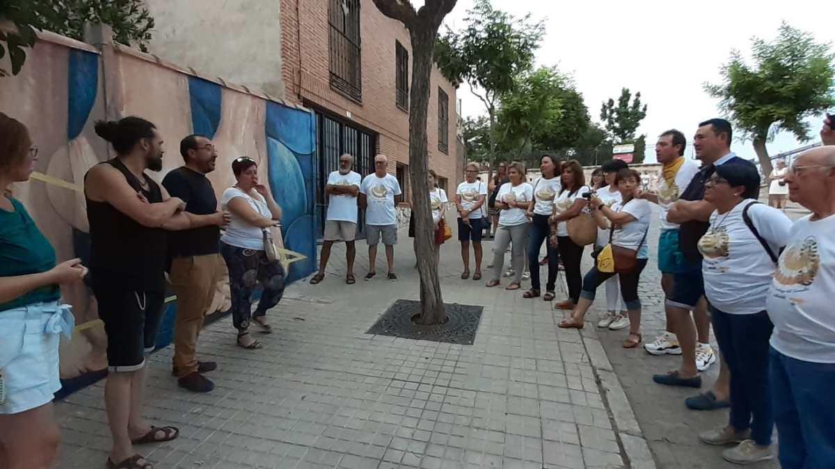 Tordesillas estrena nueva obra de arte urbano recordando al Camino de Santiago