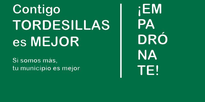 Tordesillas lanza una campaña para favorecer el empadronamiento