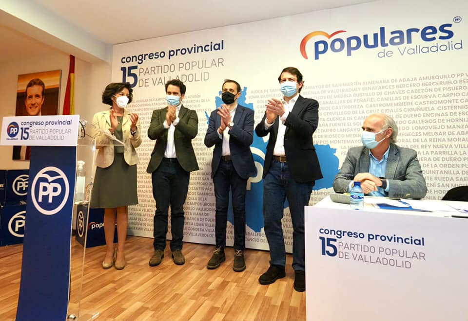 Conrado Íscar, nuevo presidente del PP de Valladolid con el 94% de los votos