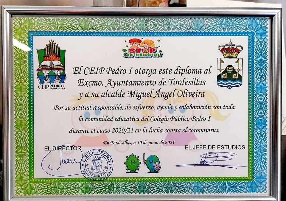 """El CEIP Pedro I agradece al Ayuntamiento su """"esfuerzo, ayuda y colaboración"""" en la lucha contra el Covid-19"""
