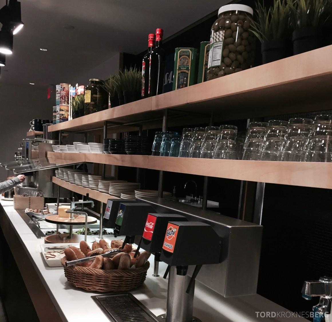SAS Lounge New York buffet