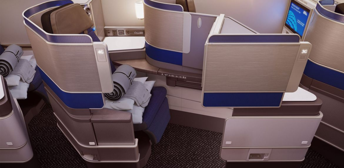 United Business Class Polaris sete