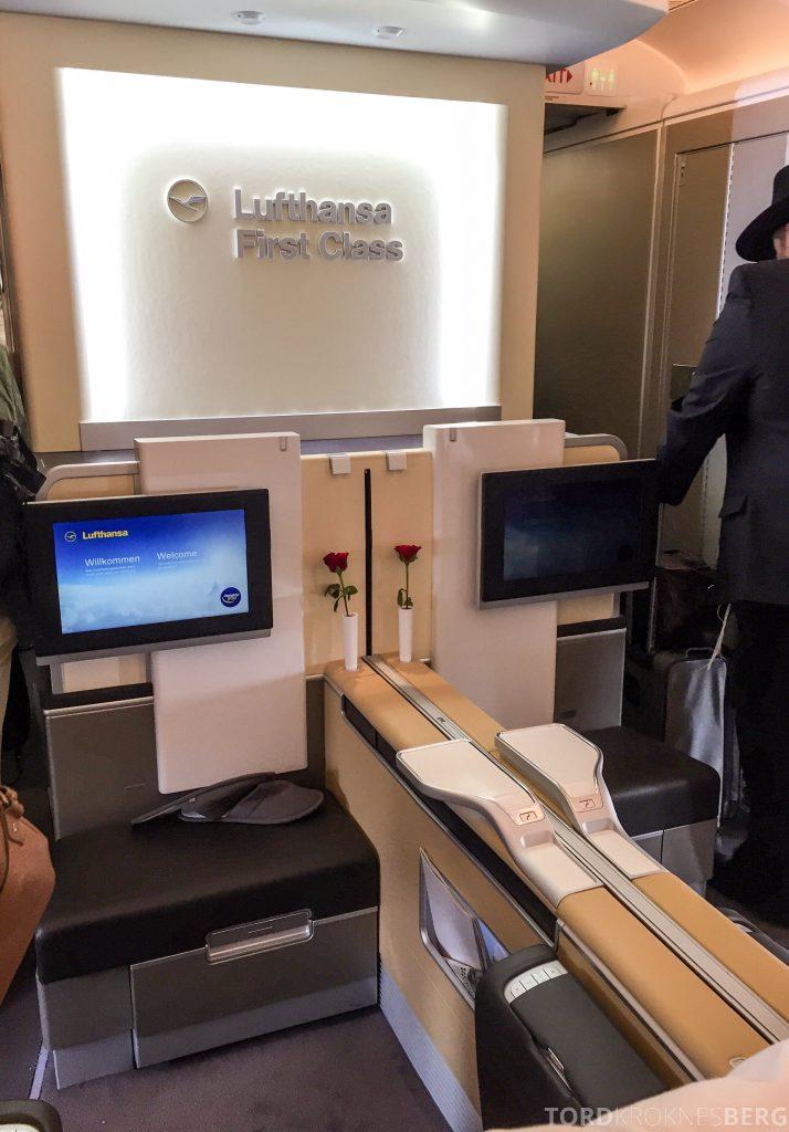 Lufthansa Business Class München til New York First Class